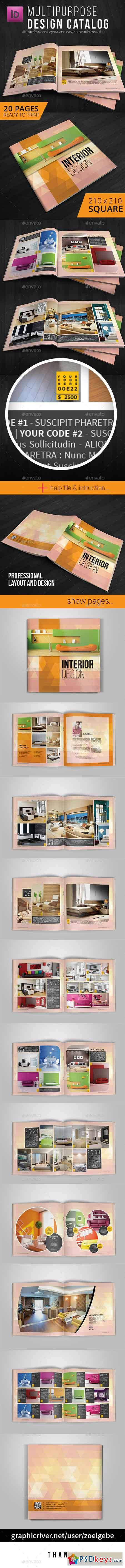 Square Modern Brochure Catalog Template 11260922