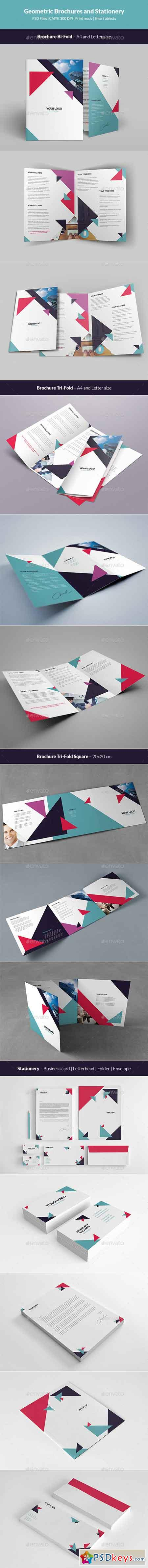 Geometric Brochures and Stationery 12451024