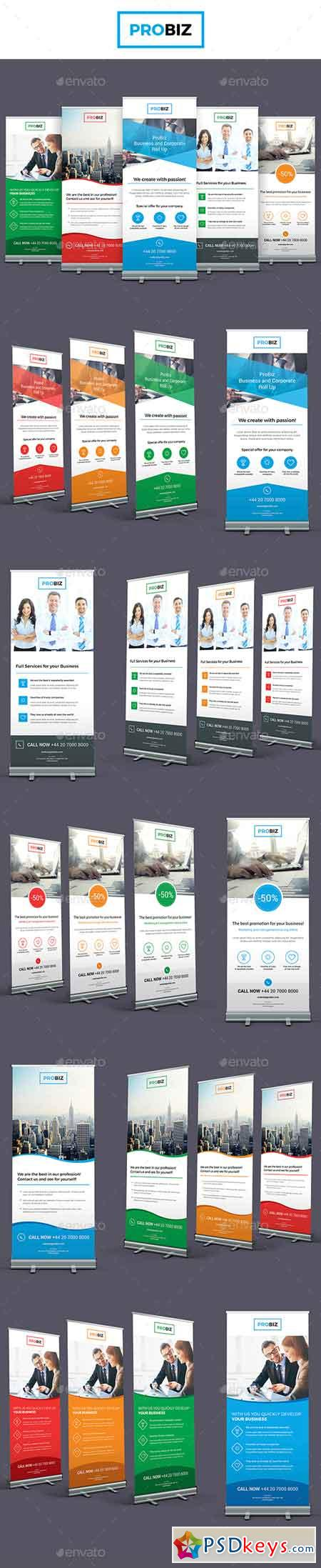 ProBiz – Business and Corporate Roll Up Banners 19314456