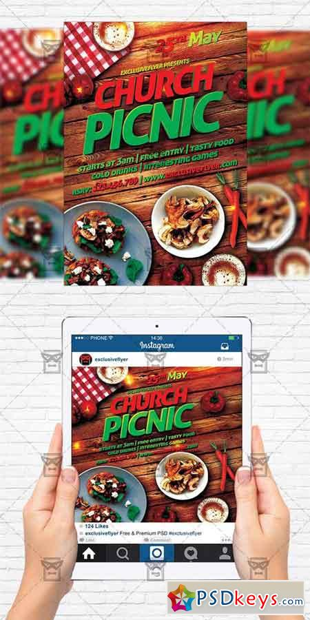 Church Picnic 2 Flyer Template Instagram Size Flyer Free
