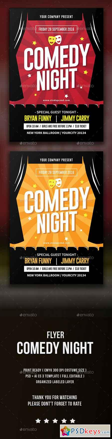 comedy night flyer 15753696 free download photoshop