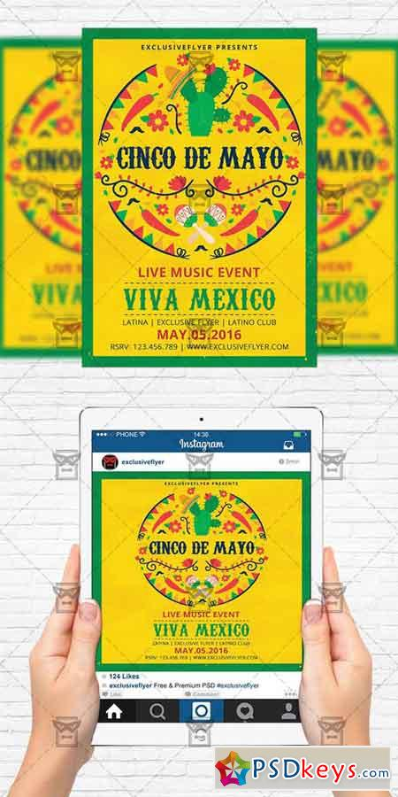 viva mexico party flyer template instagram size flyer free download photoshop vector stock. Black Bedroom Furniture Sets. Home Design Ideas