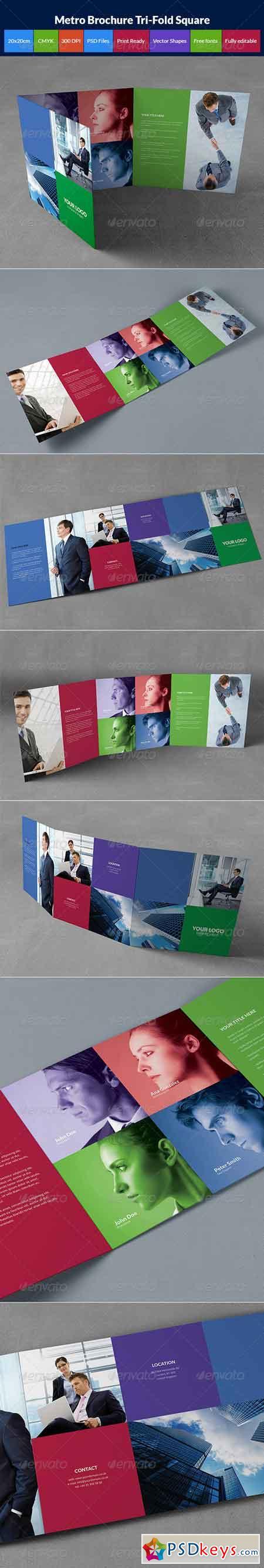 Metro brochure tri-fold square 8563474