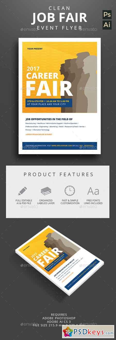 Clean Job Fair Event Flyer 12866526
