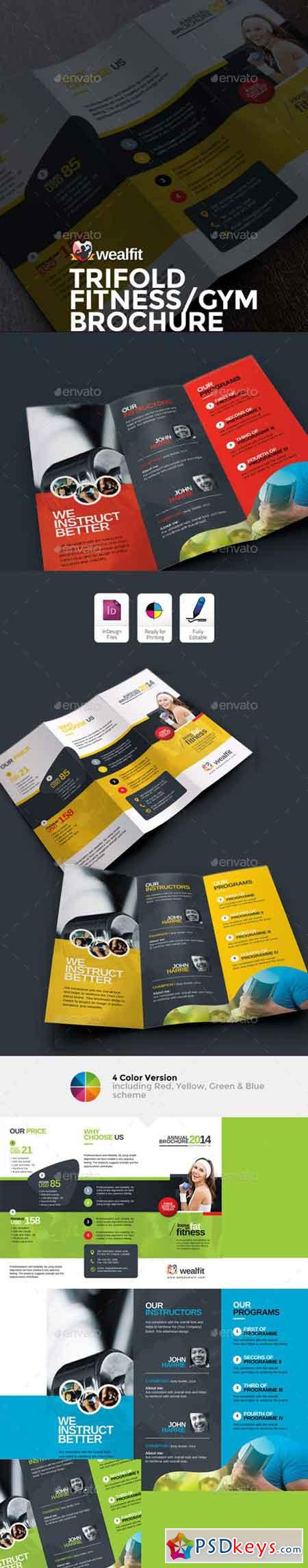 WealFit Fitness - Gym Trifold Brochure 10092601