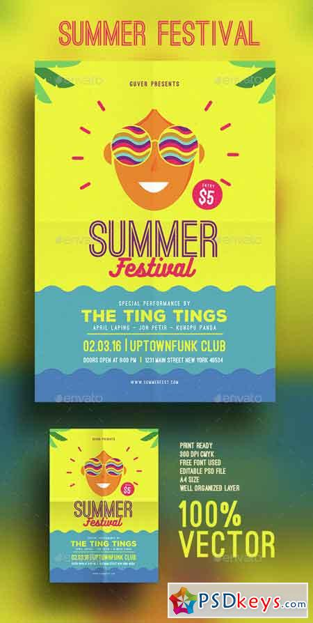 Summer festival flyer 15349110