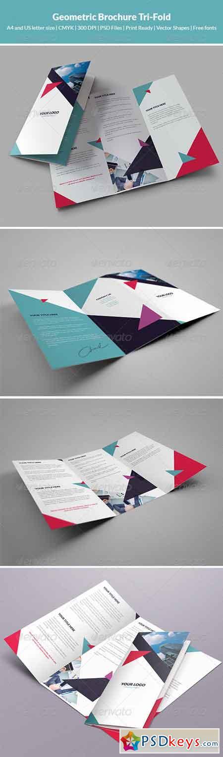 Geometric brochure tri fold 7759795 free download for Tri fold brochure template photoshop