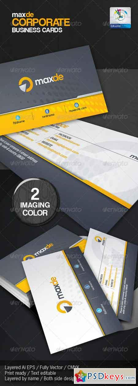 Maxde Corporate Clean Business Card 3077792 » Free Download ...