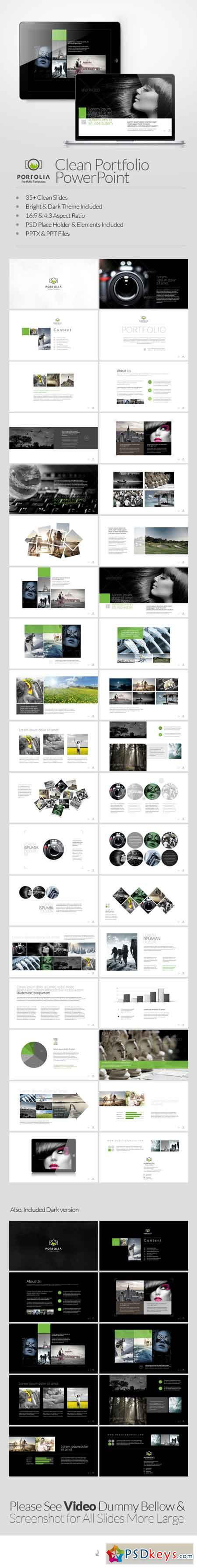 Portolia Multipurpose Clean Portfolio Powerpoint 6537310