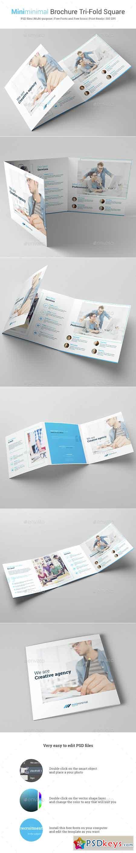 Miniminimal Brochure Tri-Fold Square 14907487