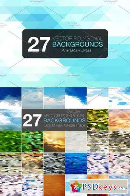 27 polygonal vector backgrounds 1313199