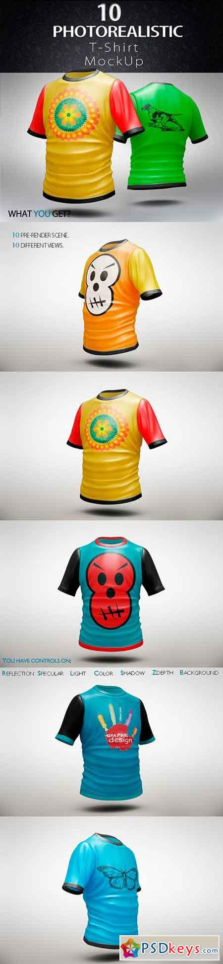 Bundle T-Shirt MockUp 1320666