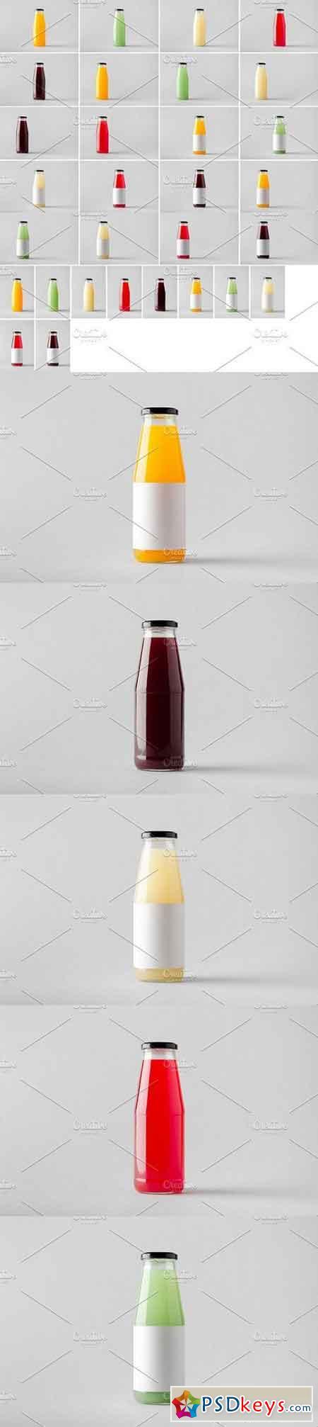 Juice Bottle Mock-Up Photo Bundle 1328931