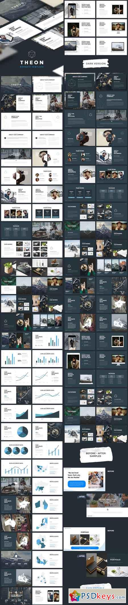 theon - minimal & creative keynote template 17653000 » free, Powerpoint templates