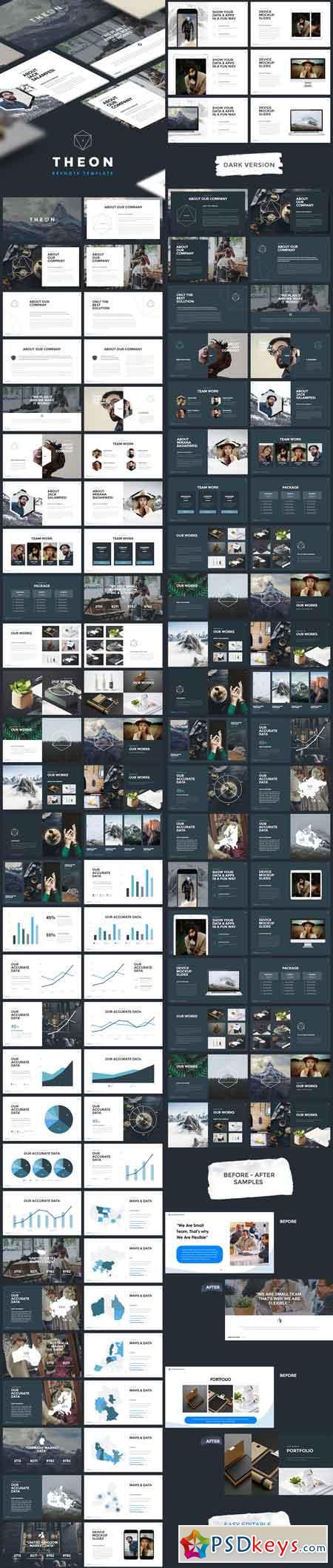 THEON - Minimal & Creative Keynote Template 17653000