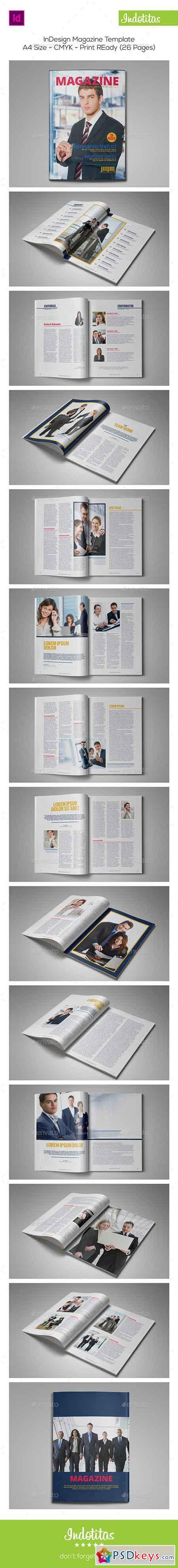 InDesign Magazine Template 9073383