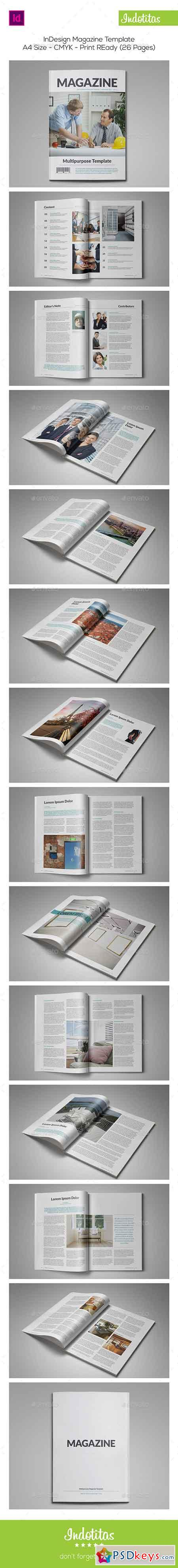 Indesign Magazine Template 8861941
