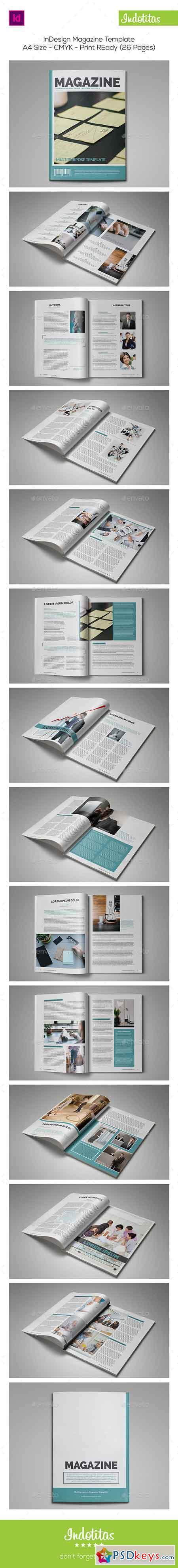 InDesign Magazine Template 8954436