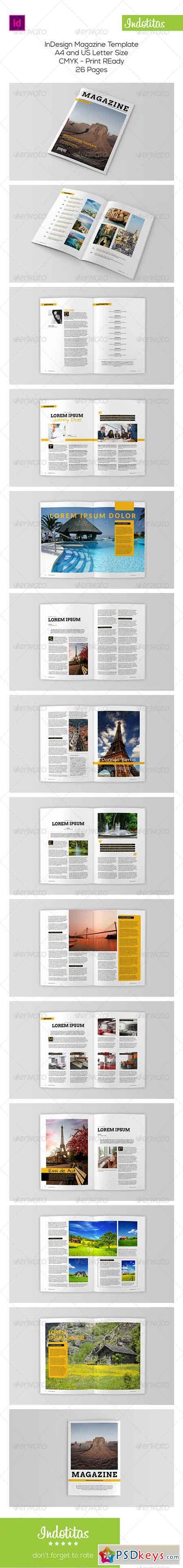 Indesign Magazine Template 8003145