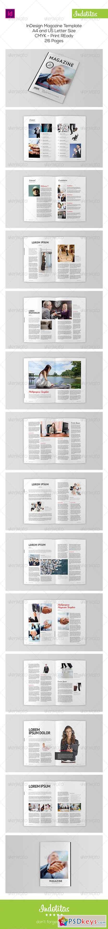 Indesign Magazine Template 8113351