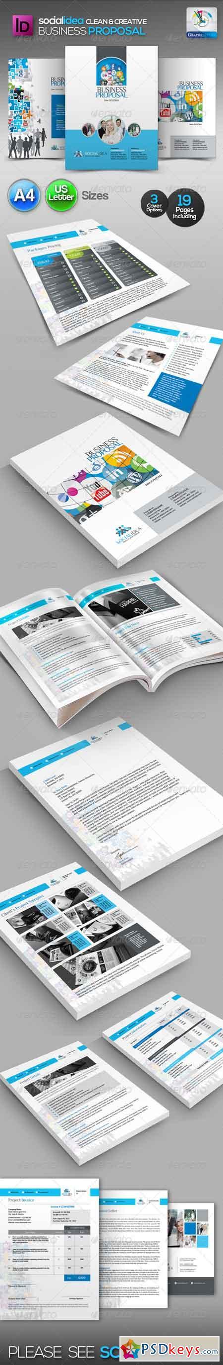 Socialidea Clean Business Proposal 3490838