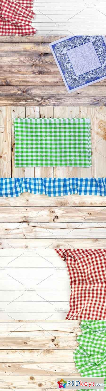 Tablecloth on wooden table 1322986