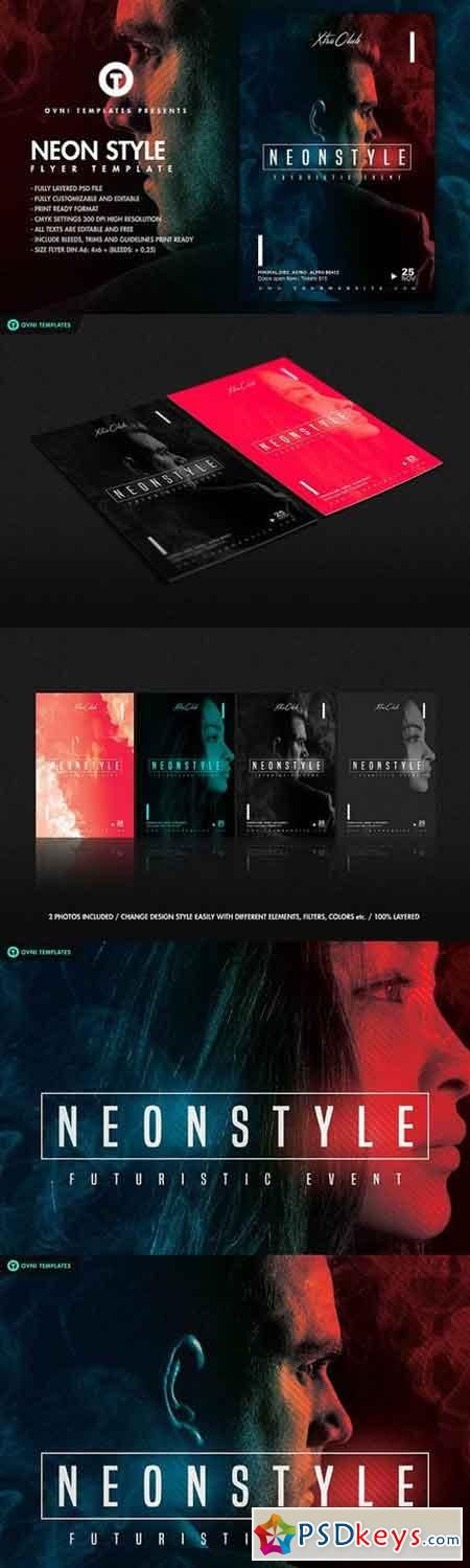 NEON STYLE Flyer Template 1344029