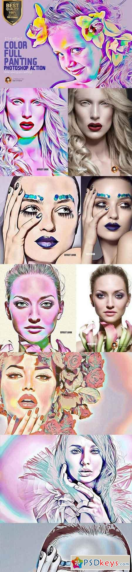 Color Full Panting Action 1344561