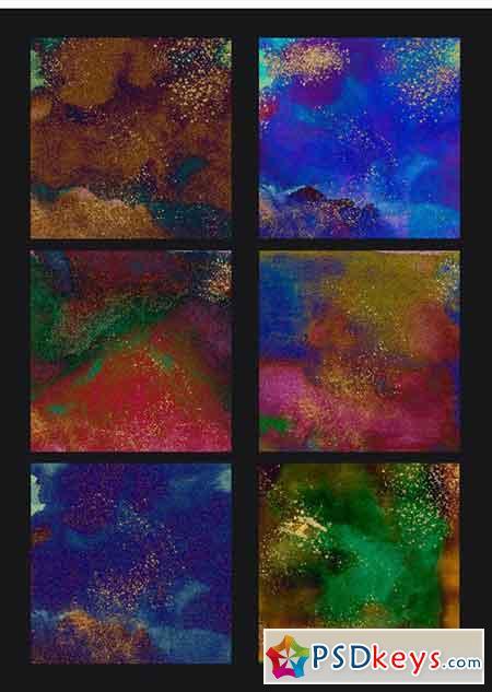 Psychedelic Grunge Digital Paper 1320936