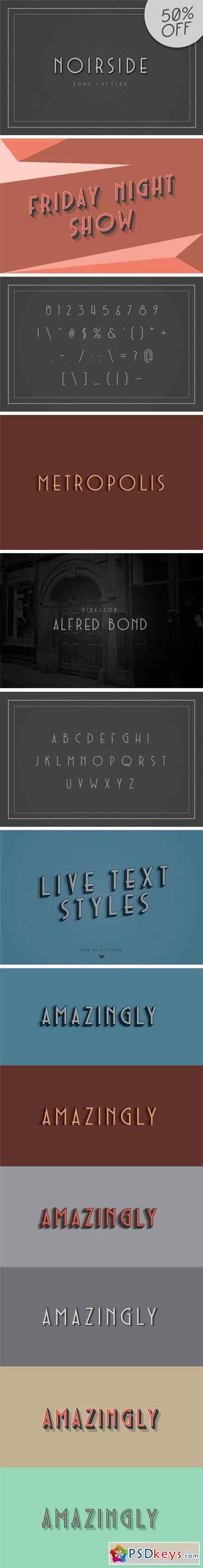 Noirside Typeface + Styles 1341626