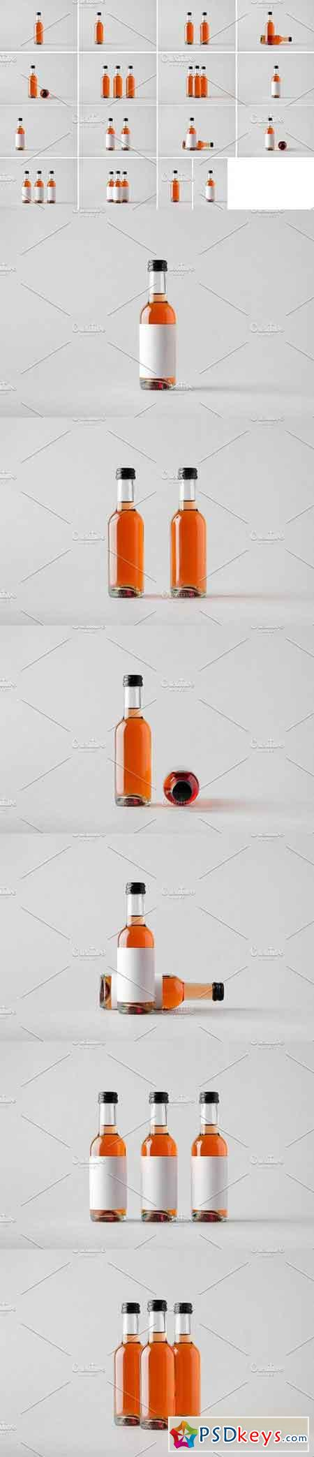 Wine Bottle Mock-Up Photo Bundle 1328829
