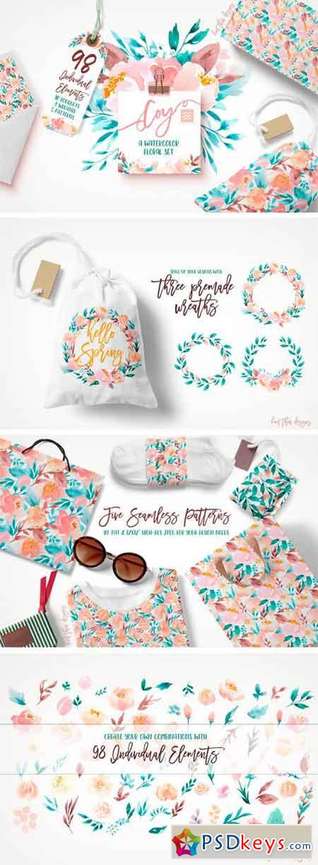 Coy - A Watercolor Floral Set 1320285