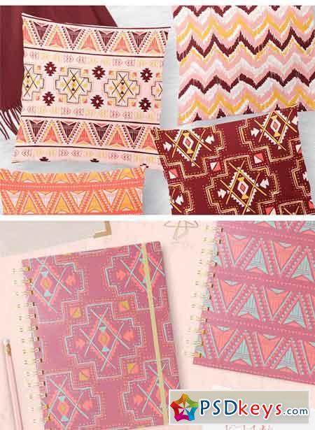 Vector Tribal Seamless Pattern Set 1318848