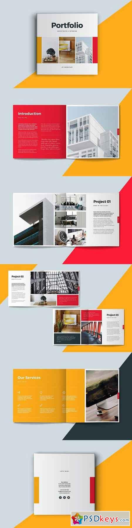 Square Portfolio Brochure Template 1341770