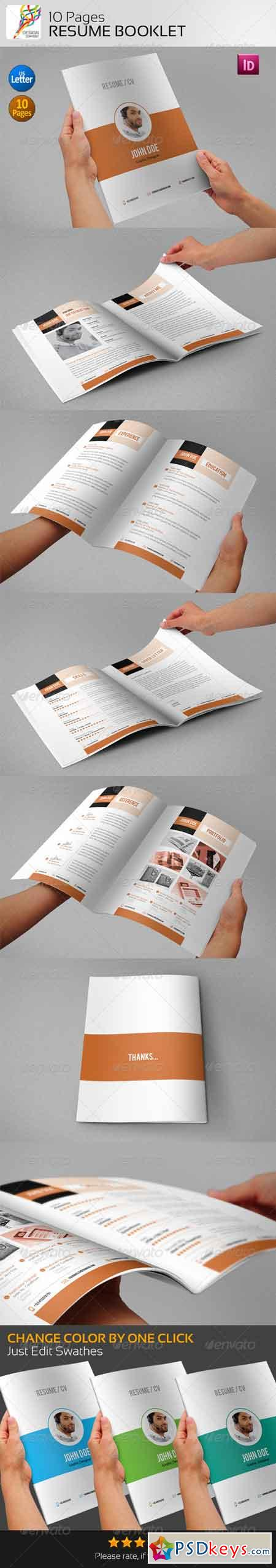 Resume Booklet (10 Pages) 5131822