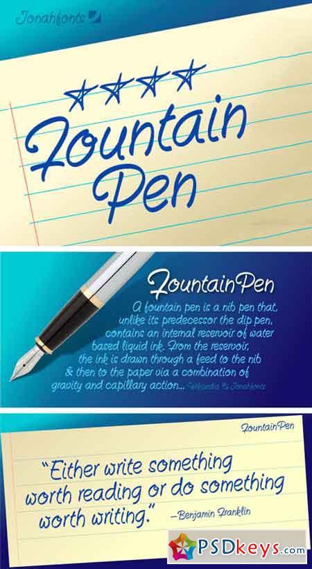 Fountain Pen Font