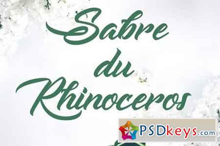 Sabre du Rhinoceros Font