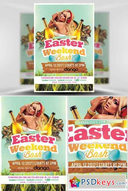 2017 Easter Weekend bash Flyer Template