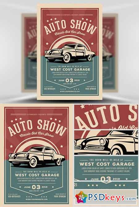 Old Classic Car Show Flyer Template » Free Download Photoshop