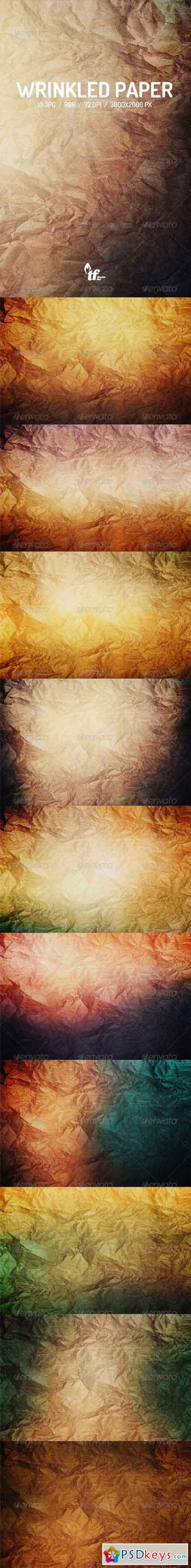 Wrinkled Paper Backgrounds 7864185