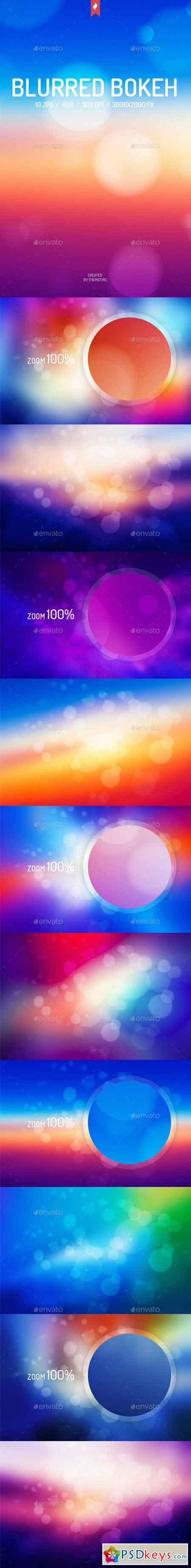 Colorful Blurred Bokeh Backgrounds 13523569