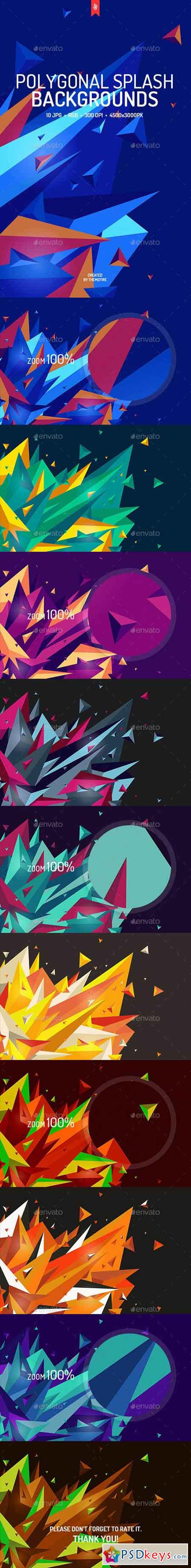 Polygonal Splash Backgrounds 19529201