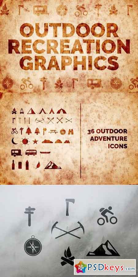 Outdoor Adventure Icons 1109909