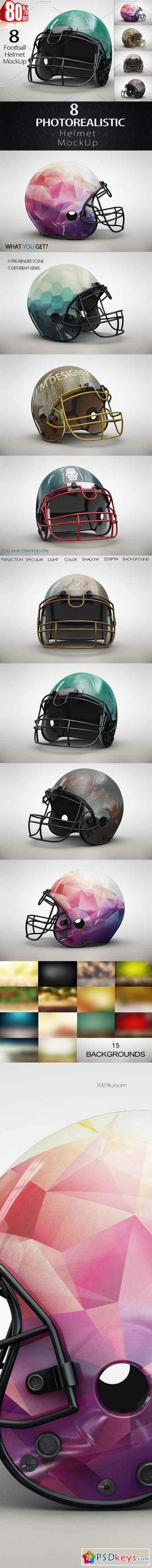 Bundle Football Helmet MockUp 1349630