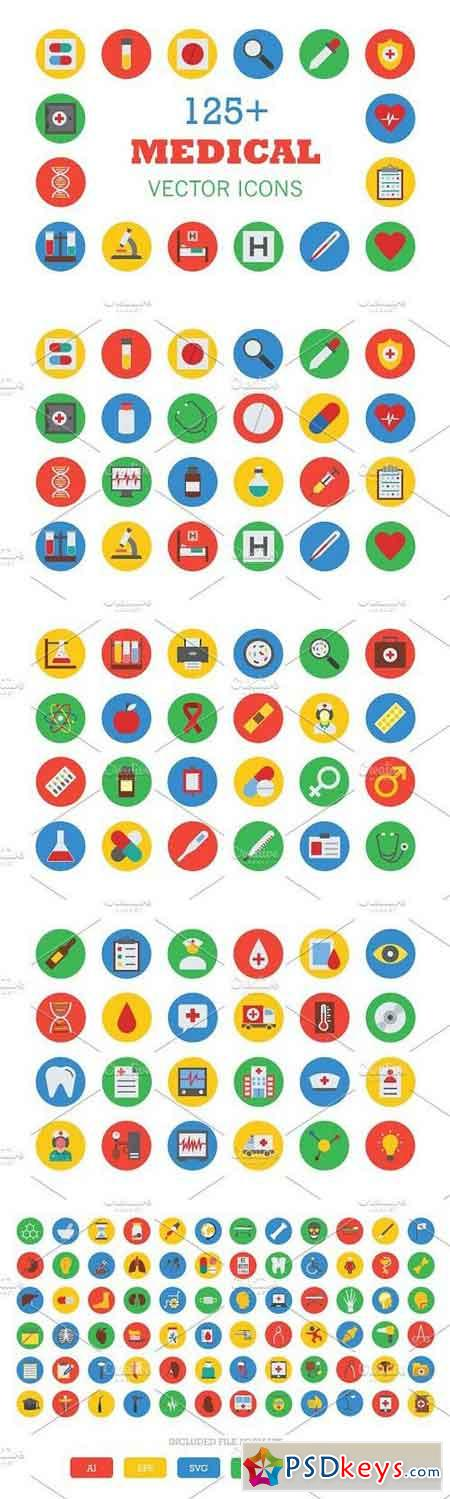 125+ Medical Vector Icons 308666