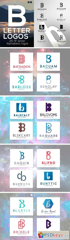 20 B Letter Alphabetic Logos 1009359