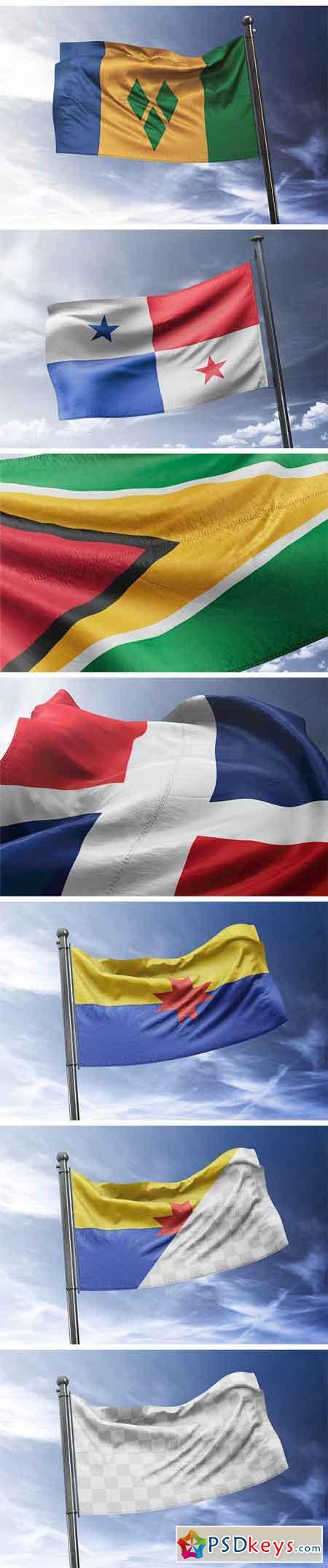 Photorealistic Flag MockUp 1320725