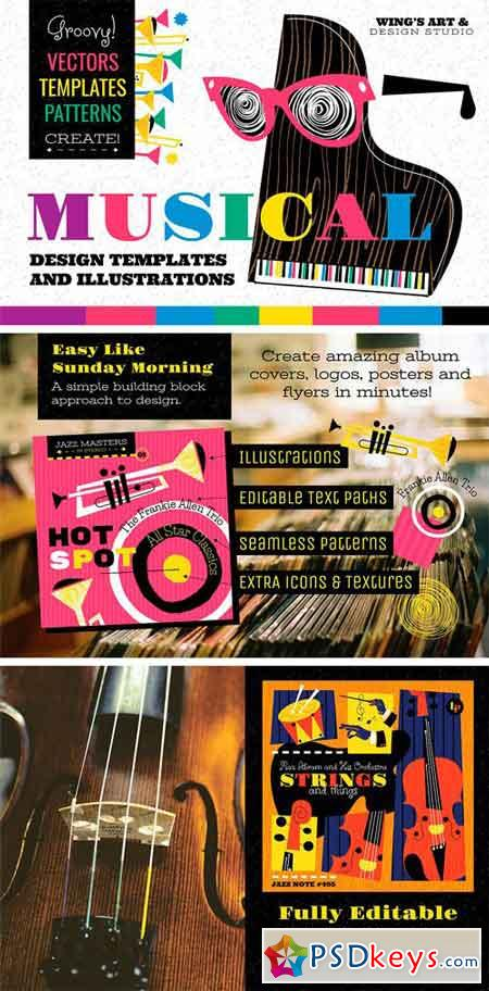 Musical Graphics & Design Templates 1319827