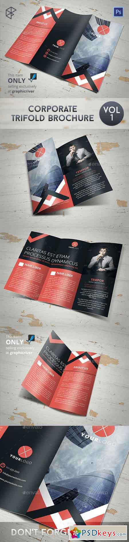 Corporate Trifold Brochure 7829117