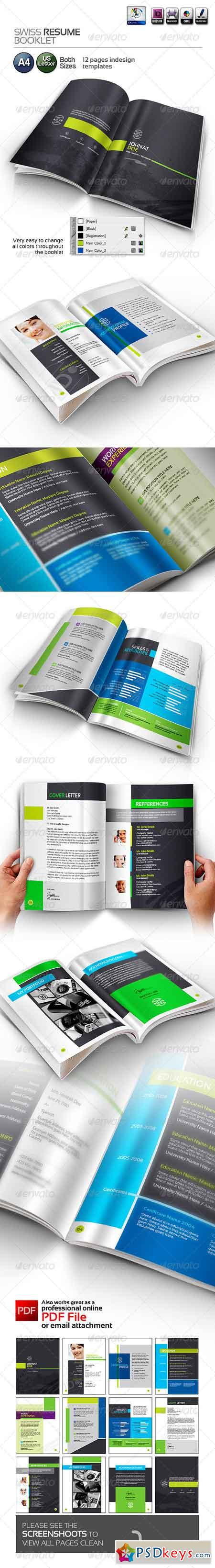 Swiss Resume Booklet 3764058